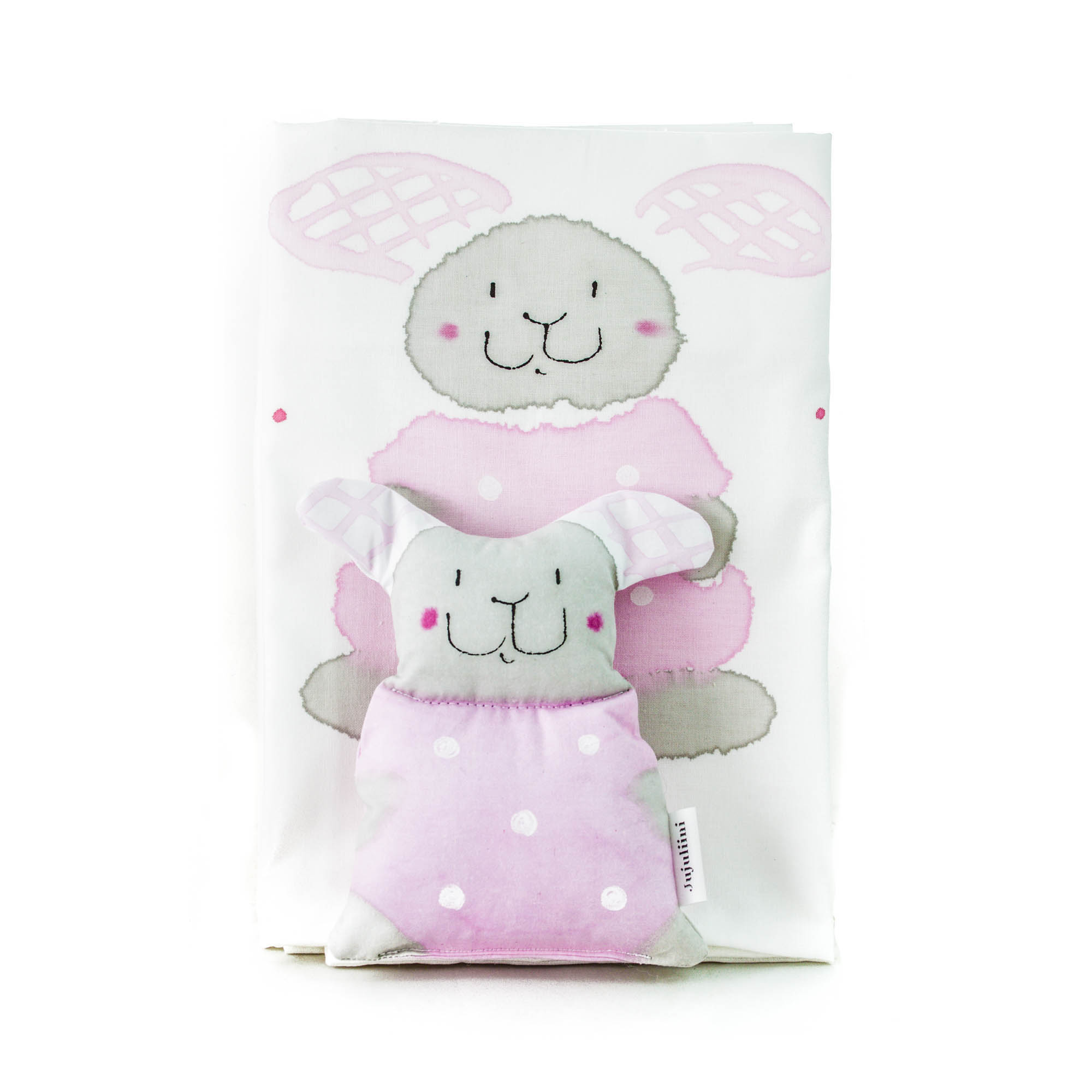 Jujuliini örngott med leksak kanin rosa