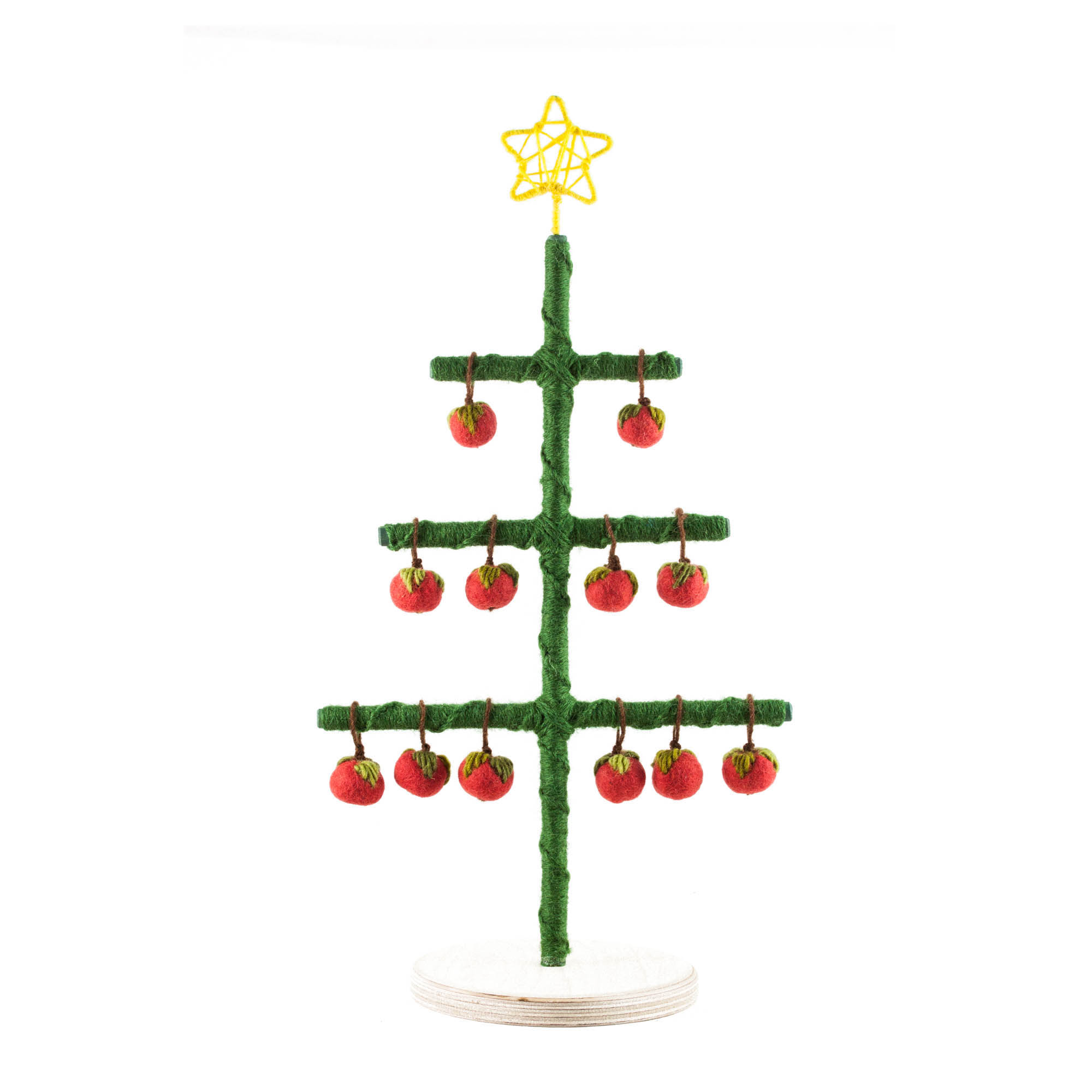 DIY julträd grön dekoration