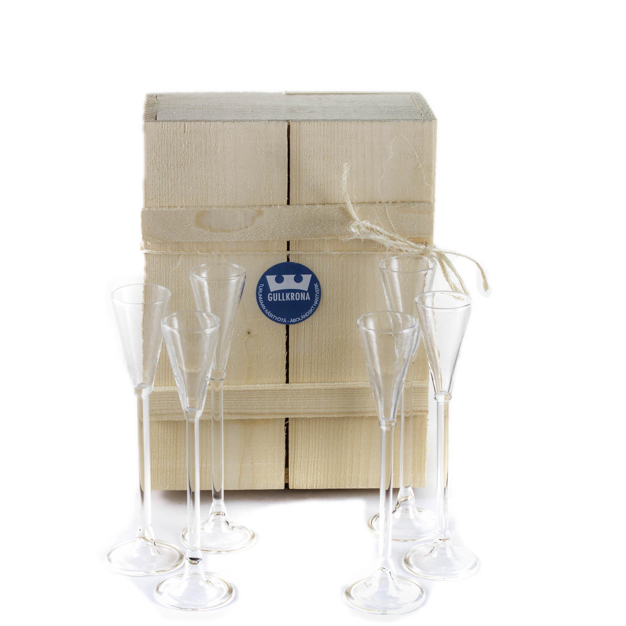 GK snapsglas 6st i låda