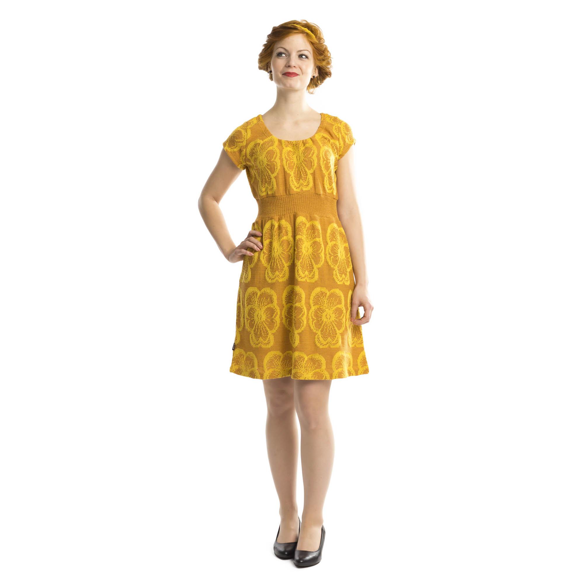 niittyorvokki mekko keltainen/kupari