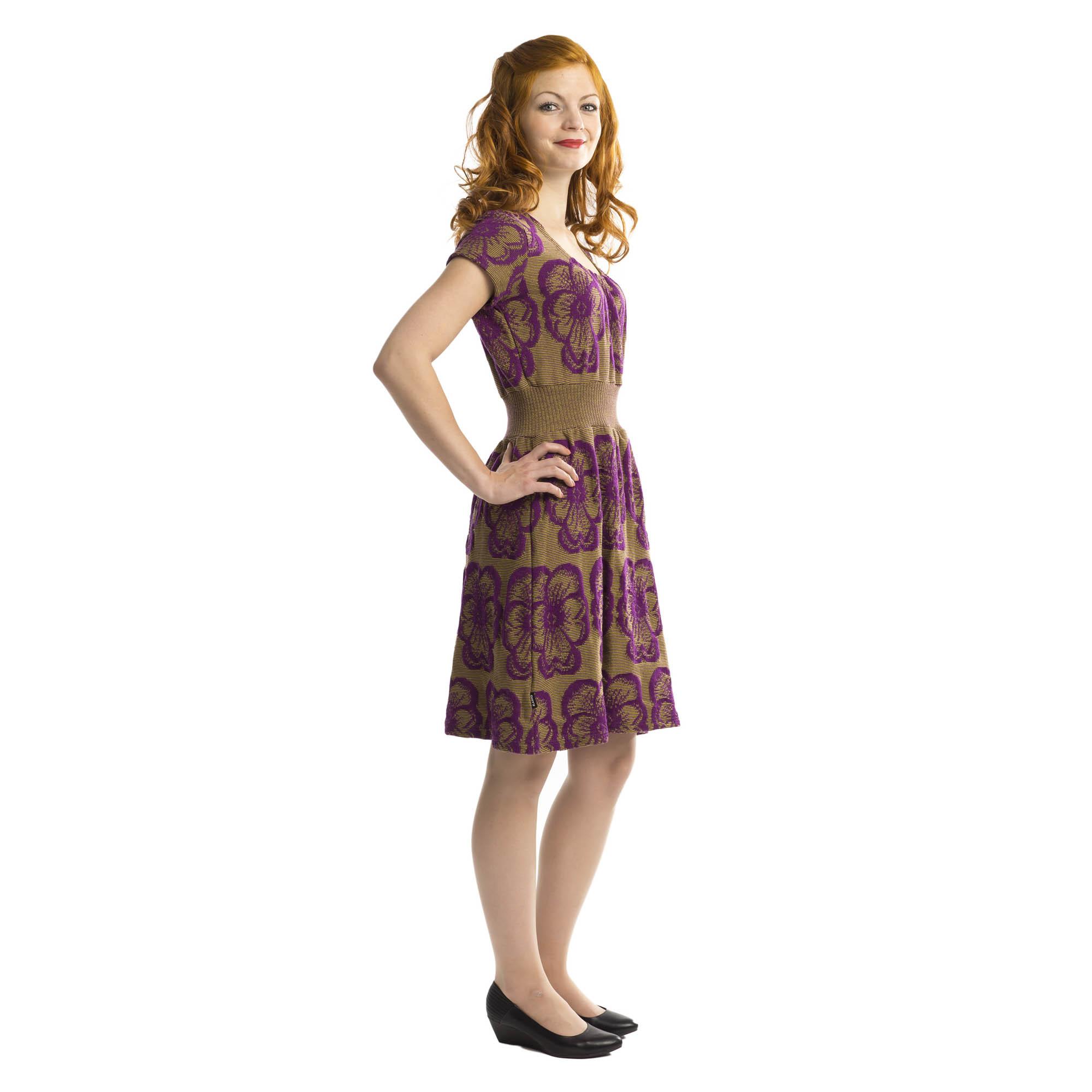 niittyorvokki mekko violetti/pullonvihreä