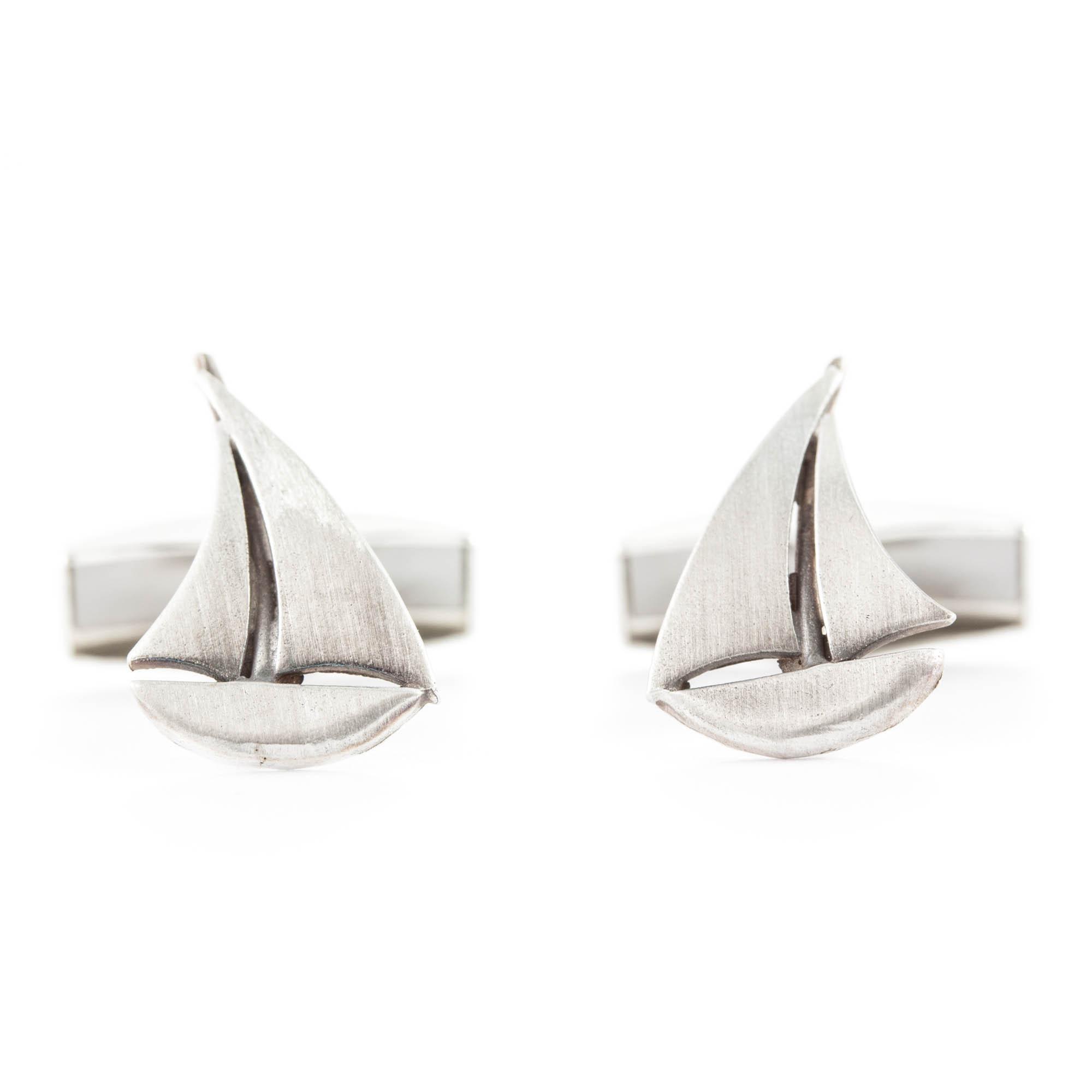 Segelbåt manchettknappar