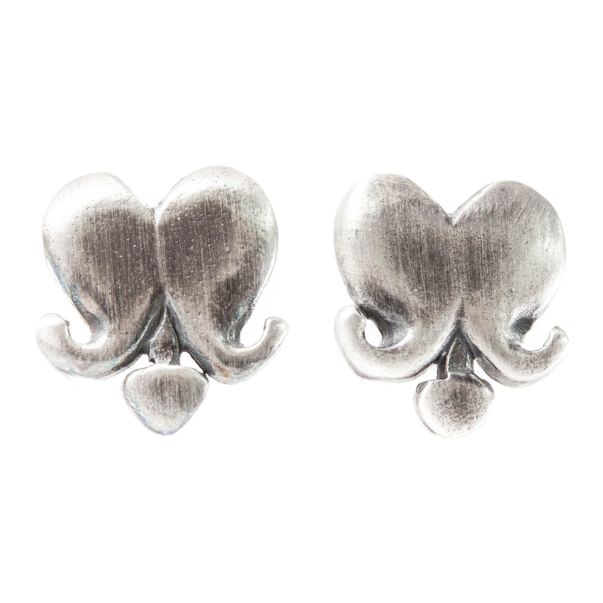 Brustet hjärta örhängen (tapp)