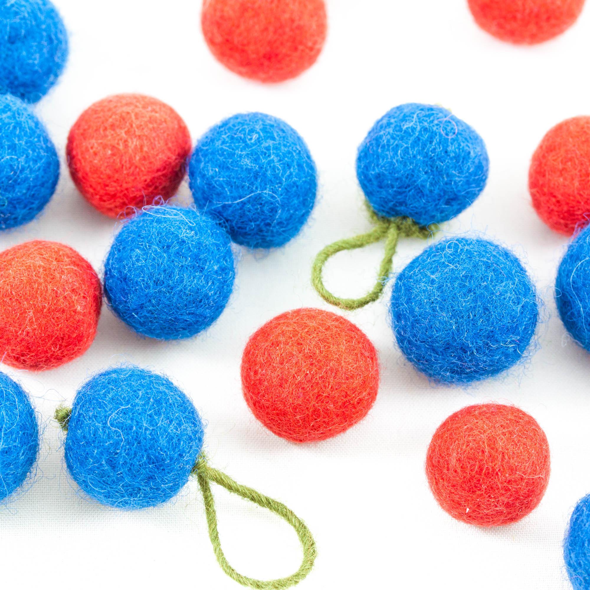 DIY bollar blå, röd