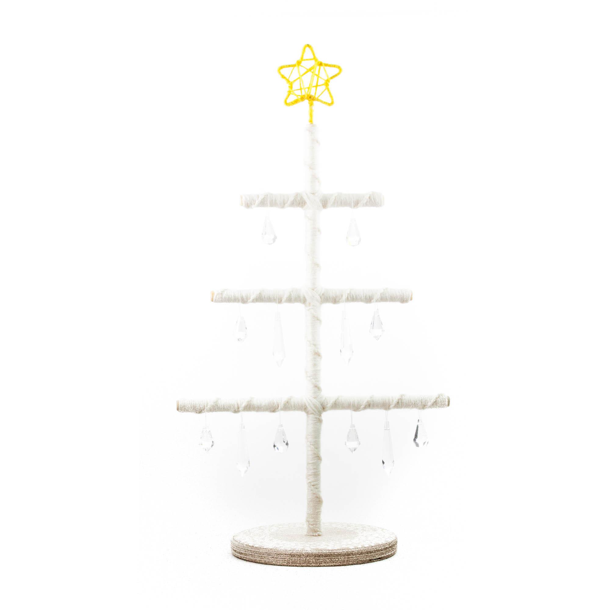 DIY julgran vit med kristaller